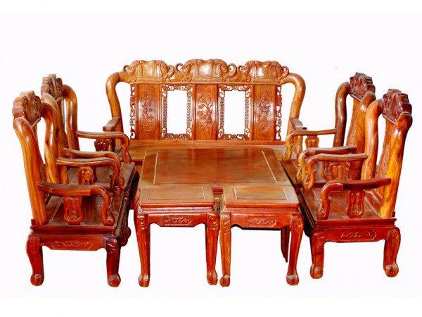 Bàn ghế gỗ phòng khách giá rẻ