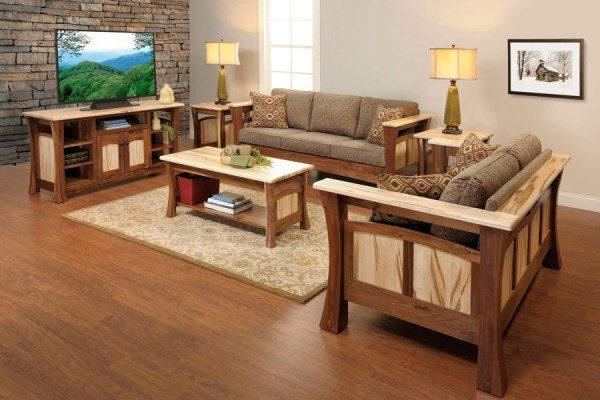 mẫu bàn ghế gỗ phòng khách hiện đại