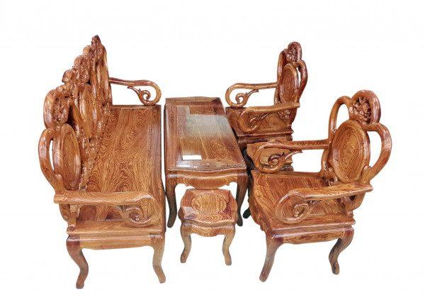 Top 15 mẫu bàn ghế gỗ phòng khách nhỏ HOT nhất thị trường