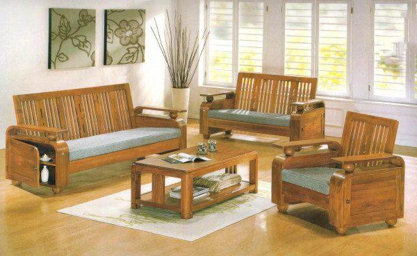 Top 15 mẫu bàn ghế gỗ phòng khách nhỏ siêu đẹp – siêu hot