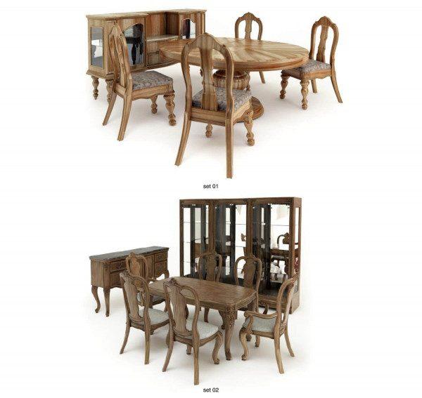 mẫu bàn ghế gỗ phòng khách nhỏ