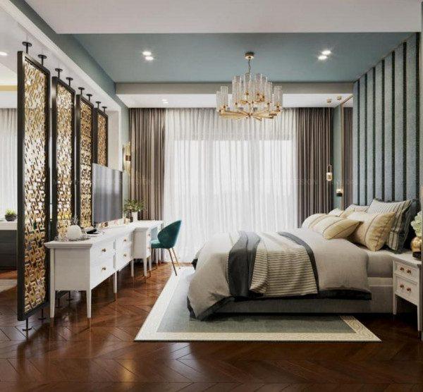 Vách ngăn phòng khách và phòng ngủ - Nội Thất Nhà Lee