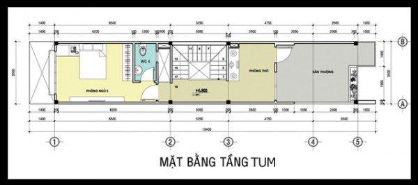 bản vẽ kết cấu nhà phố 2 tầng