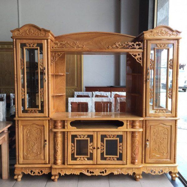 Tuyển chọn 55 mẫu kệ tivi gỗ xoan đào chất lượng giá rẻ