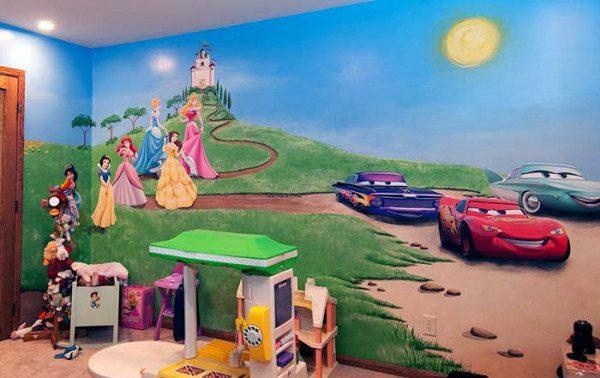 Vẽ tranh tường mầm non dễ thương cho các bé yêu