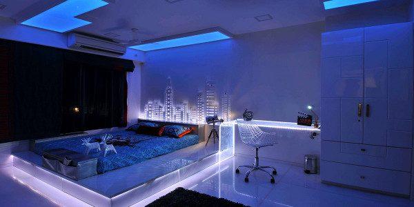 Cách trang trí phòng ngủ bằng đèn Led - Nội Thất Nhà Lee