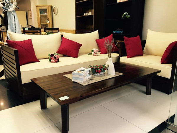 Sofa gỗ cho nội thất phòng khách thêm phần sang trọng