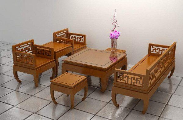 sofa gỗ hương
