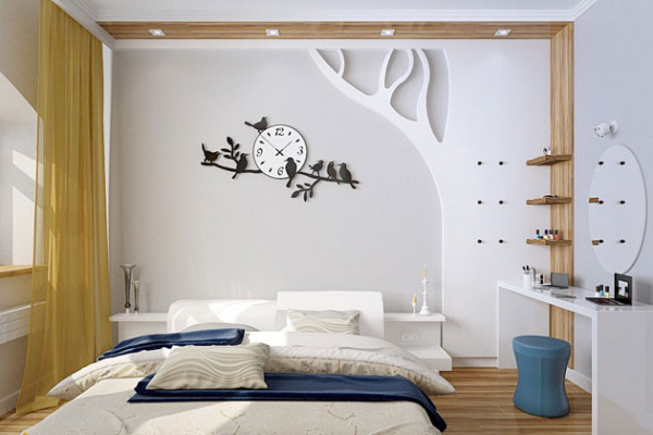 Sử dụng đồng hồ trang trí decor phòng ngủ - Nội Thất Nhà Lee