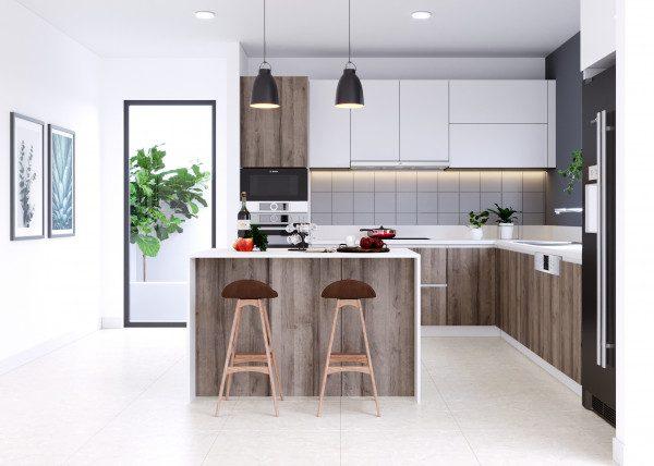 Tủ bếp đẹp - Nội Thất Nhà Lee