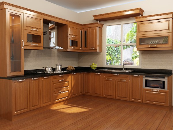 Tủ bếp gỗ đẹp - Nội Thất Nhà Lee