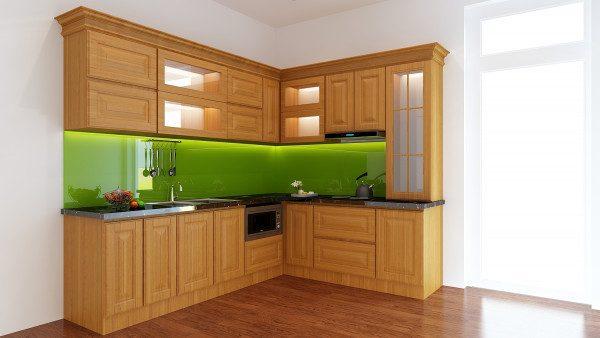 Tủ bếp gỗ sồi – Lựa chọn hàng đầu cho không gian nội thất phòng bếp