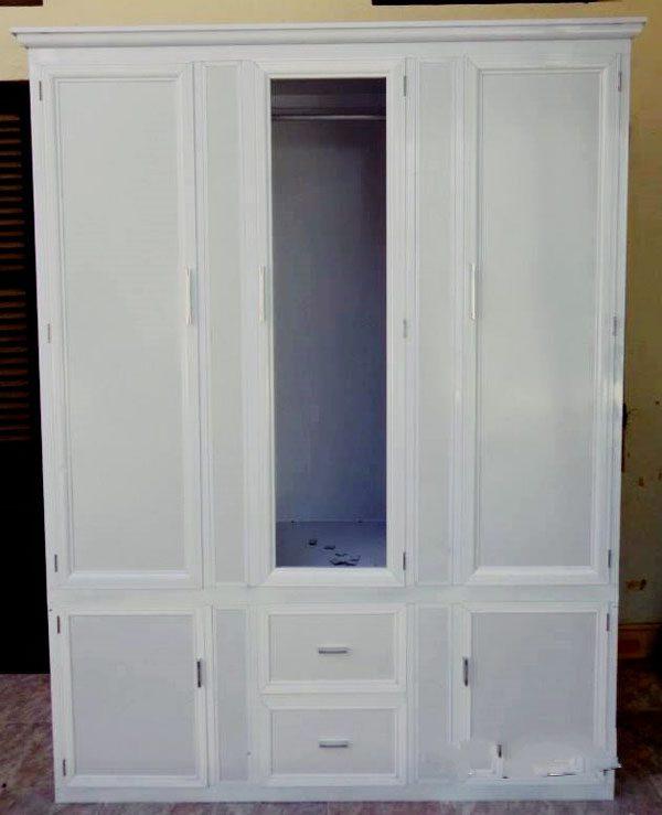 3. Tủ quần áo nhôm kính 3 buồng