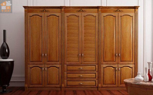 Tủ quần áo gỗ tự nhiên - Nội Thất Nhà Lee