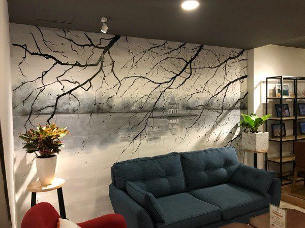 Vẽ tranh tường quán cafe siêu ấn tượng cho không gian giải trí