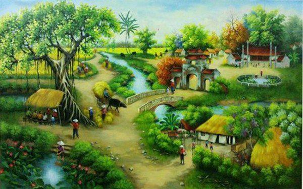 Bức tranh làng quê