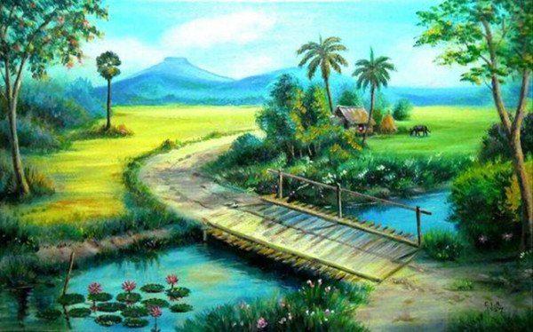 Cách vẽ tranh phong cảnh đơn giản nhất