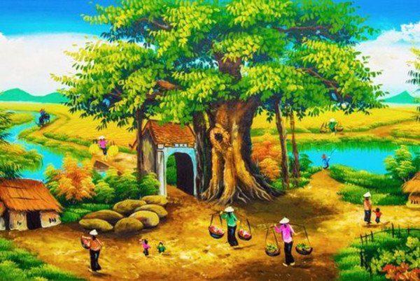 Cổng làng và cây đa