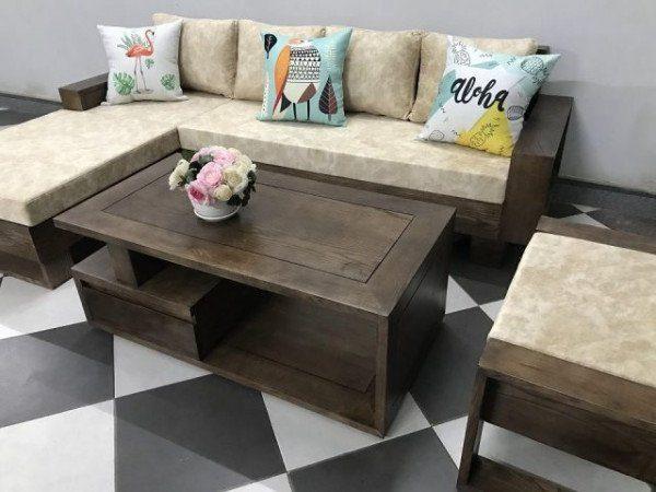 """Mẫu bàn ghế sofa gỗ đẹp ấn tượng làm """"bão"""" 2019"""