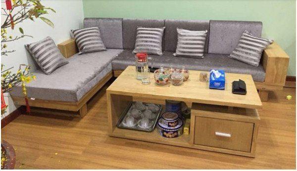 Sofa gỗ nệm