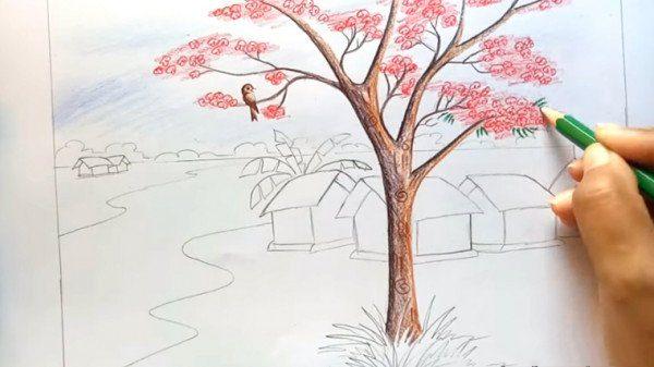 Vẽ tranh phong cảnh thiên nhiên