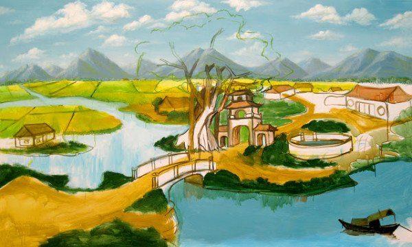Các bước vẽ tranh phong cảnh