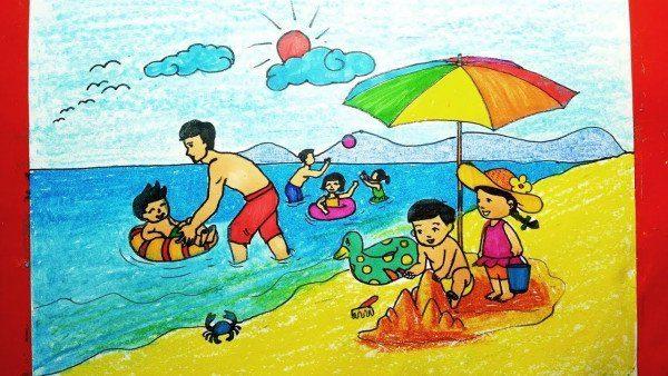 Vẽ tranh đề tài phong cảnh làng quê Việt Nam đẹp