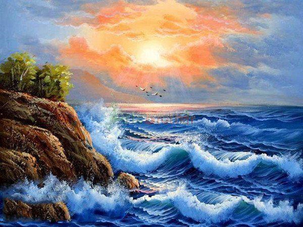 Vẽ tranh phong cảnh biển như thế nào để có bức tranh đẹp?