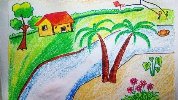 Cách vẽ tranh phong cảnh lớp 7 đơn giản nhất cho các bạn học sinh