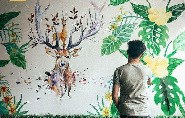 Dịch vụ vẽ tranh tường theo yêu cầu – Đảm bảo tiến độ giá 120k/m2