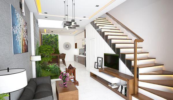 Cầu thang đẹp cho nhà có diện tích nhỏ - Nội Thất Nhà Lee