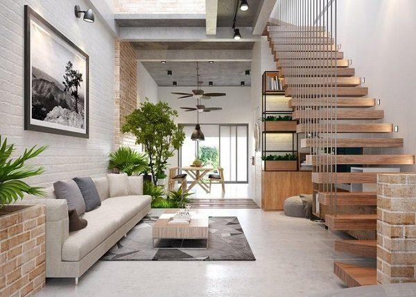 Cầu thang đẹp cho nhà ống - Nội Thất Nhà Lee
