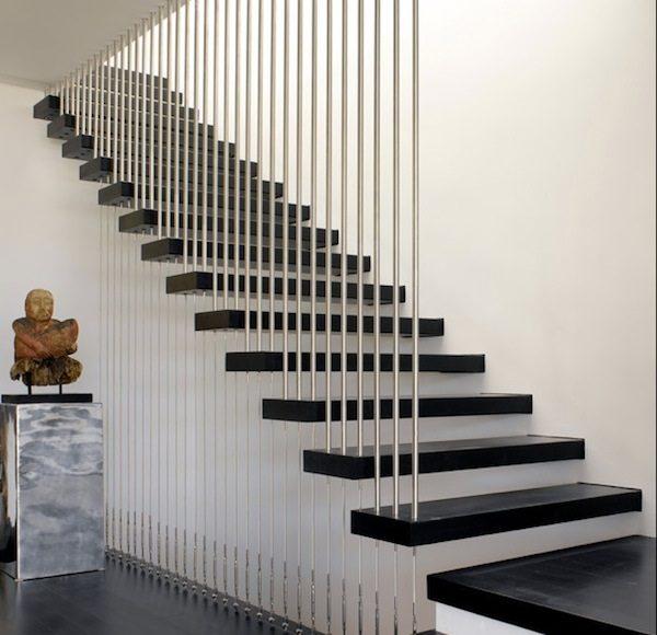 Cầu thang dùng dây cáp đẹp - Nội Thất Nhà Lee