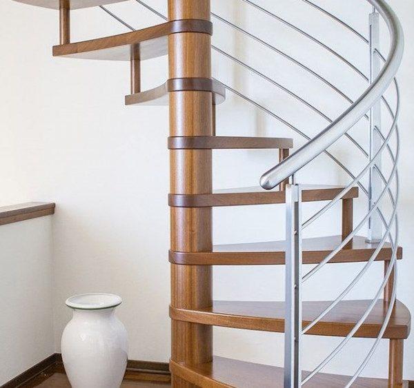 Cầu thang gỗ Inox - Nội Thất Nhà Lee