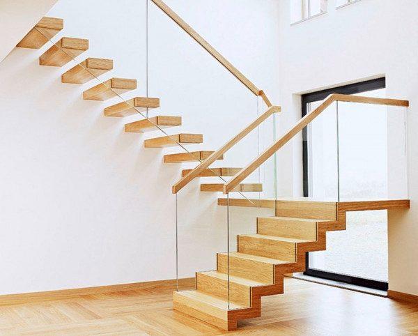 Cầu thang gỗ kính - Nội Thất Nhà Lee