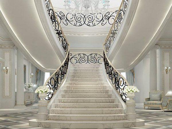 Cầu thang lâu đài đẹp - Nội Thất Nhà Lee