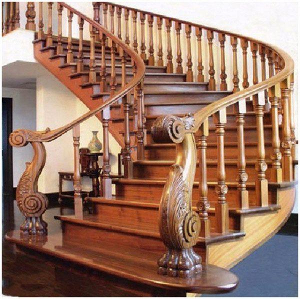 Mẫu lan can cầu thang gỗ cổ điển - Nội Thất Nhà Lee