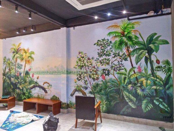 Các chủ đề vẽ tranh tường quán cafe trà sữa