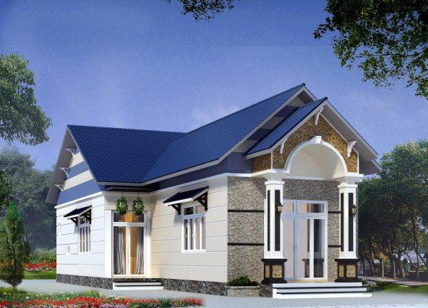 Mẫu nhà cấp 4 nông thôn chi phí xây dựng 150 triệu - Nội Thất Nhà Lee