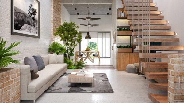 Mẫu thiết kế nội thất nhà phố đẹp - Nội Thất Nhà Lee
